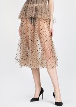 Прозрачная юбка Khaite в черный горох, фото