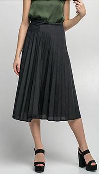 Плиссированная юбка Kaos черного цвета, фото