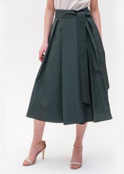 Зеленая юбка-миди Max Mara Weekend с карманами, фото