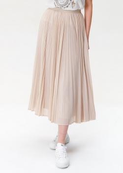 Плиссированная юбка Max Mara Weekend бежевого цвета, фото