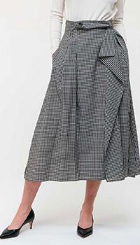 Шерстяная юбка Max Mara Weekend в клетку, фото