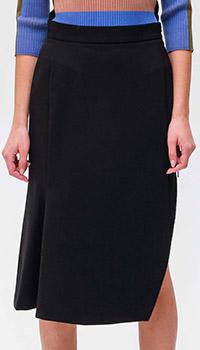 Черная юбка Max Mara Weekend с разрезом, фото
