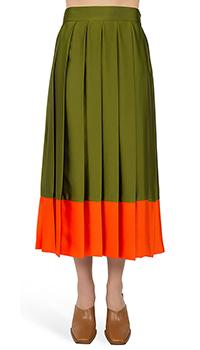 Зеленая юбка MSGM в крупную складку, фото