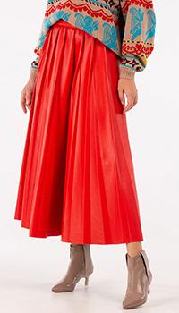 Красная юбка MSGM из искусственной кожи, фото