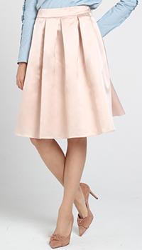 Расклешенная юбка Blugirl Blumarine розового цвета, фото