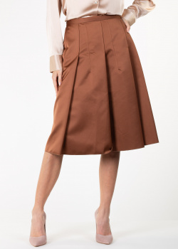 Юбка-трапеция N21 коричневого цвета, фото
