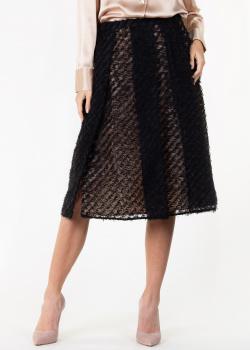 Черная юбка N21 с крупными складками, фото