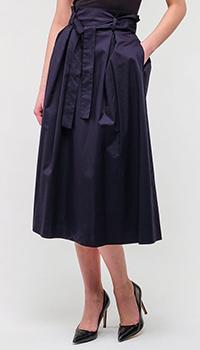 Юбка Peserico темно-синяя с поясом, фото