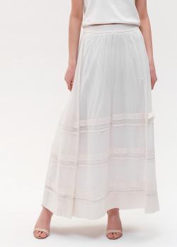 Длинная юбка Peserico молочного цвета, фото
