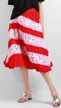 Плиссированная юбка Silvian Heach с кружевом, фото