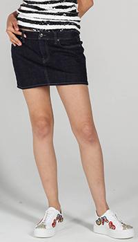 Джинсовая юбка P.A.R.O.S.H. с заниженной талией, фото