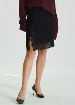 Шелковая юбка Zadig & Voltaire с кружевной отделкой, фото