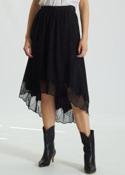 Шелковая юбка Zadig & Voltaire с кружевными вставками, фото