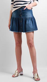Джинсовая юбка Red Valentino синего цвета, фото