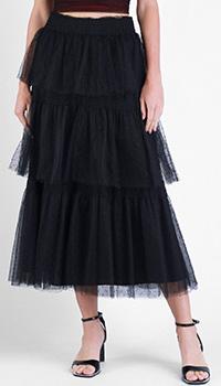 Юбка-миди Red Valentino черного цвета, фото