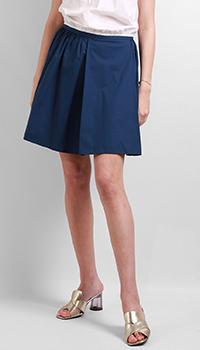 Синяя юбка Red Valentino со складками, фото