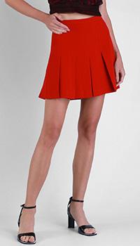 Плиссированная юбка Red Valentino красного цвета, фото