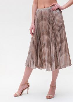 Плиссированная юбка Polo Ralph Lauren бежевого цвета, фото