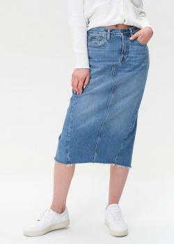 Джинсовая юбка-карандаш Polo Ralph Lauren с разрезом, фото