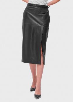 Кожаная юбка-карандаш Red Valentino с разрезом, фото