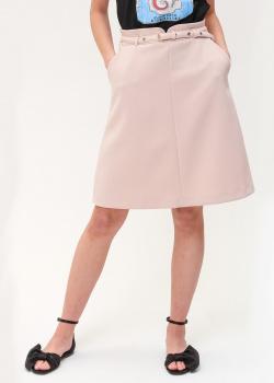 Пудровая юбка Red Valentino с поясом, фото
