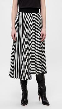 Плиссированная юбка Dorothee Schumacher в полоску, фото