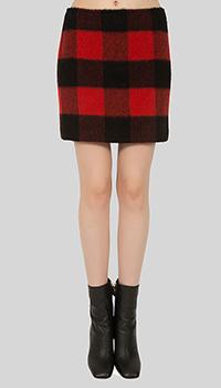 Шерстяная юбка Dsquared2 короткая, фото