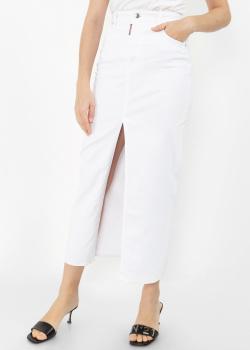 Джинсовая юбка Dsquared2 с разрезом спереди, фото