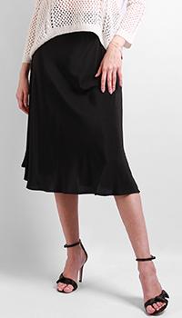 Шелковая юбка Max&Moi черного цвета, фото