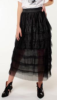 Многослойная юбка-миди Silvian Heach на резинке, фото