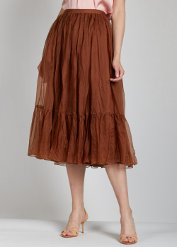 Многослойная юбка Rochas из шелка, фото