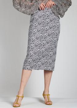 Юбка-миди Rochas с цветочным принтом, фото