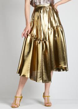 Золотистая юбка Rochas с разрезом, фото