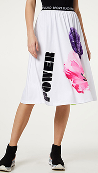 Белая юбка Liu Jo с эластичным поясом, фото