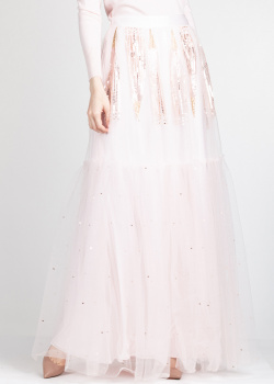 Многослойная юбка Temperley London розового цвета, фото