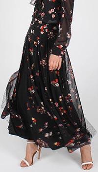 Юбка-клеш Red Valentino с цветочным принтом, фото