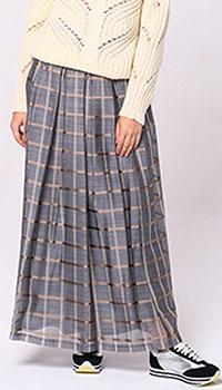 Клетчатая юбка Peserico с завышенной талией, фото
