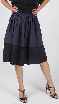 Пышная юбка Armani Jeans синего цвета с черной отделкой, фото