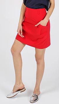 Юбка-трапеция Armani Jeans красного цвета, фото