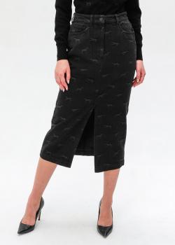 Джинсовая юбка Trussardi с разрезом, фото
