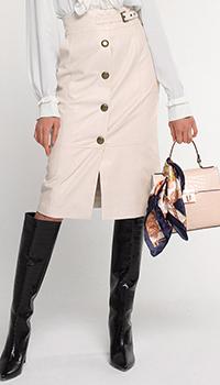 Бежевая юбка-карандаш Twin-Set с разрезом, фото