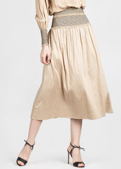 Бежевая юбка Toteme на широкой резинке, фото