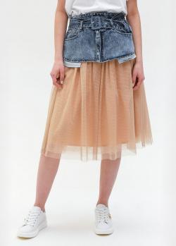 Юбка Twin-Set с джинсовым верхом, фото