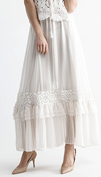Кружевная юбка Twin-Set белого цвета, фото
