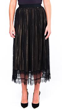 Плиссированная юбка Twin-Set с бронзовым отливом, фото
