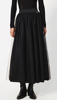 Черная юбка Twin-Set из многослойного тюля, фото