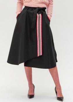 Черная юбка Twin-Set с контрастной вставкой, фото