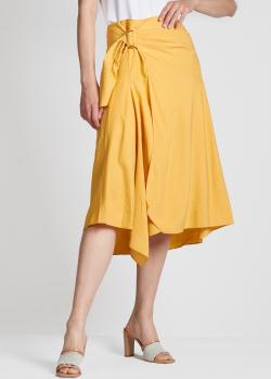 Желтая юбка-миди Vince асимметричного кроя, фото