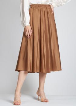 Шелковая юбка Vince цвета мокко, фото