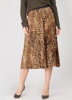 Плиссированная юбка Zadig & Voltaire с леопардовым принтом, фото